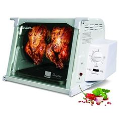 Ronco Showtime Standard Rotisserie and Barbeque Oven White Chicken Rotisserie