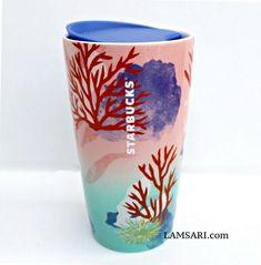 Starbucks, Tumbler, Coral, Ceramics, Mugs, Ceramica, Pottery, Drinkware, Tumblers