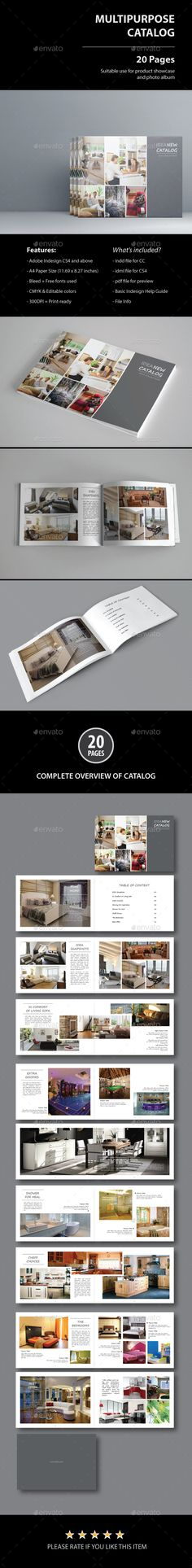 ALetter Portrait Architecture Brochure Template  Brochure