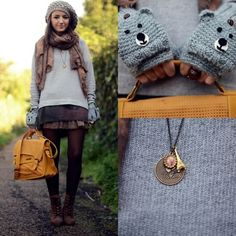 adorable bear glittens! <3