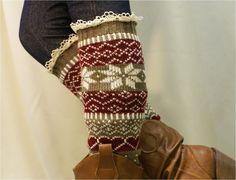 leg warmers Ski sweater snowflake pattern 3 by CatherineColeStudio, $25.50