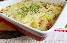 Budinca de cartofi cu piept de pui - Rețete Merișor Eastern European Recipes, Romanian Food, Mashed Potatoes, Macaroni And Cheese, Food And Drink, Cooking Recipes, Yummy Food, Chicken, Ethnic Recipes