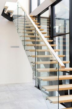 staircase interior minimalist for your house 8 > Fieltro. Brisbane, Melbourne, Floating Staircase, Staircase Railings, Curved Staircase, Staircases, Modern Railing, Modern Stairs, Railing Design
