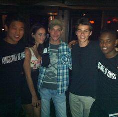 Maze Runner wrap party with Ki Hong, Kaya, Wes, Dylan, and Aml.