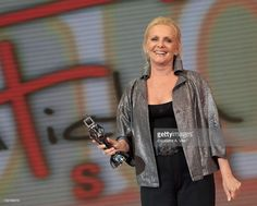 Virna Lisi receives the award for best actress for 'Caterina e le sue figlie 3' during the Roma Fiction Fest 2010 Ceremony Awards at Auditorium Conciliazione on July 10, 2010 in Rome, Italy.