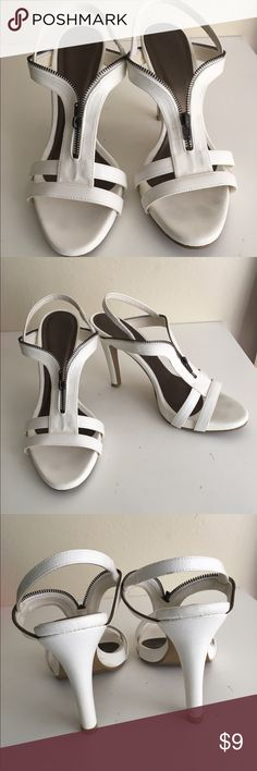 Vincci heeled sandals in white Fun and comfortable to wear. Great for night outs and looks great with shorts/mini-skirts. Got it from Malaysia few years back and wore them less than 5 times. Vincci Shoes Sandals