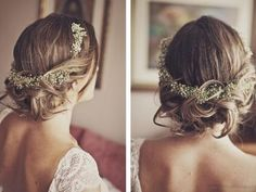 Sweet and simple, baby´s breath flower crown
