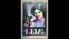 Princess Leia inspired Mixed Media project