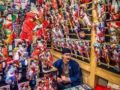 "Asakusa Toshi no Ichi aka Hagoita market 1/5 Nothing says ""December"" in Asakusa like the Toshi no Ichi (End of the Year) fair... #Asakusa, #Toshi, #Ichi, #hagoita December 17, 2015 © Grigoris A. Miliaresis- in December"