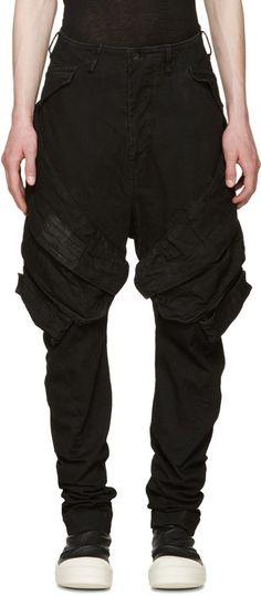 Julius Black Denim Cargo Trousers