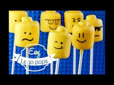 Quick and easy Marshmallow Lego Pops for birthdays and class treats. So simplethat kids can help too! Video included for quick tutorial.