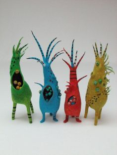 Andrea Graham and Her Family of Felt PODS