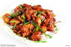Chilli chicken recipe, restaurant style chilli chicken dry & gravy recipes. Learn how to make the best Indo chinese starter or side to serve with noodles
