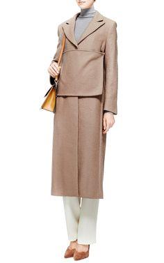 { Banded Wool-Blend Bouclé Coat by J.W. Anderson - Moda Operandi }