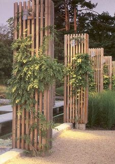 short wood slat walls