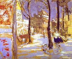 Boulevard of Battignolles, 1910 by Edouard Vuillard (French 1868-1940)
