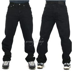 Georgio Peviani Mens Designer Stretchy Jeans Straight Slim Fit Plain Denim Pants