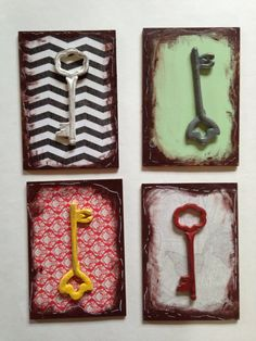 4 keys wall decore on Etsy, $10.00