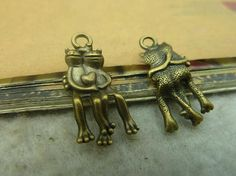 20pcs 12x24mm Antique Bronze Lovely The Love Of Frog Charms Pendant C3411