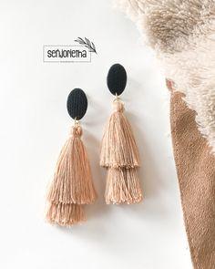Polymer Clay Earrings, Tassels, Drop Earrings, Jewelry, Instagram, Jewlery, Jewerly, Schmuck, Drop Earring