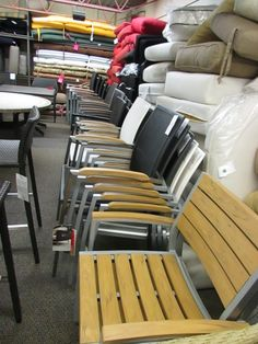 Stacking chairs by Ratana and Kettler USA - available for contract order #patio #restaurant #seating #outdoor #furniture