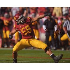 "John Tavai USC Trojans Fanatics Authentic Autographed 8"" x 10"" Celebrating Photograph - $29.99"