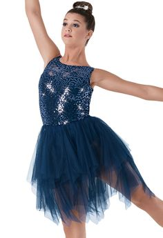 584bd3aab0788 Weissman® | Sequin Lace Tiered Soft Tulle Dress Dance Quotes, Dance  Sayings, Dance