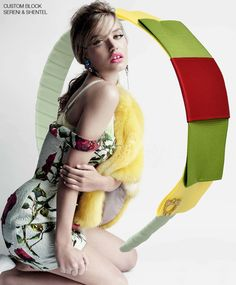 Headband inspired by Candy Coated in British Vogue April 2015