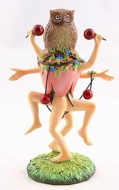 Museumize:Owl Headed Dancer Fantasy Figurine with Many Legs by Hieronymus Bosch 6.25H