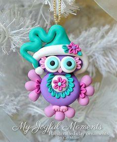 Christmas owl ornament on We Heart It