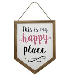 Wild Blooms Wall Decor-This is my Happy Place