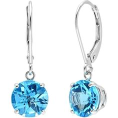 10K White Gold Checkerboard Swiss Blue Topaz Lever Back Earrings ( 3... (389.175 COP) ❤ liked on Polyvore featuring jewelry, earrings, white gold earrings, swiss blue topaz jewelry, white gold jewelry, white gold jewellery and swiss blue topaz earrings