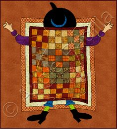 Quilt Sand'witch'! If only I had the time to do a just-for-fun project like this :)