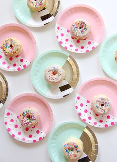 Bash Party Goods has plenty of fun mix and match plate designs to choose from, so you're just a few sprinkled donuts away from the best party ever!