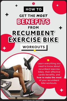 In this article, learn everything you need to know about recumbent exercise bikes, their effective cardio benefits, and how to make the most of your recumbent bike workouts. #sunnyhealthfitness #recumbentbikes #recumbent #bike #workout #cardioworkout #recumbentbikebenefits Recumbent Bike Benefits, Recumbent Bike Workout, Bike Workouts, Cycling Workout, At Home Workouts, Muscles In Your Back, Cardio Equipment, Health And Fitness Articles, Resistance Band Exercises