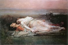 """Tristan and Isolde"" by Rogelio de Egusquiza"