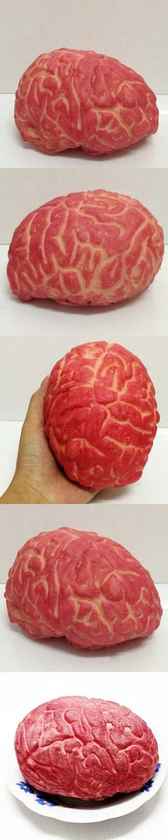 Novelty Latex Prank Toy Fake Human Brain Trick Props -$12.38