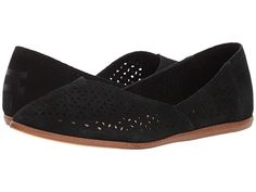 ceee9481ea TOMS Jutti Flat (Black Suede Mosaic Tile) Women s Flat Shoes. With every  pair of shoes you purchase TOMS will give a new pair of shoes to a child in  need.