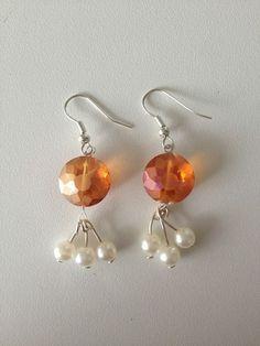 """Ohrhänger """" Sonnenanbeter"""" orange mit Perlen von MermaidsJewellery auf…"""
