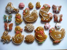 velikonoční perníčky - Hledat Googlem Scandinavian Christmas, Sugar Cookies, Vodka, Gingerbread, Food And Drink, Easter, Clay, Spring, Image