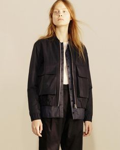 Our Myra Cotton Tech bomber jacket is now available online.  #norseprojectswomen