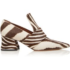 Givenchy     Patricia Loafer (€1.160) ❤ liked on Polyvore featuring shoes, loafers, pointed toe loafers, zebra print shoes, pointy toe shoes, zebra shoes and calf hair loafers