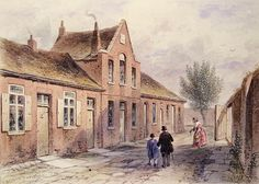 Witcher's Alms Houses Tothill Fields, 1850 (w/c on paper) Wall Art & Canvas Prints by Thomas Hosmer Shepherd