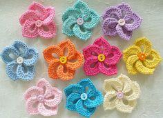 10 Mini Crochet  Pinwheel ♥ by IreneStitches