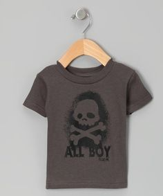 Take a look at this Charcoal 'All Boy' Tee - Infant, Toddler & Boys by Micro Me on #zulily today!