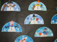 My 1st grade students loved seeing the reflection of their snowman on the plate.