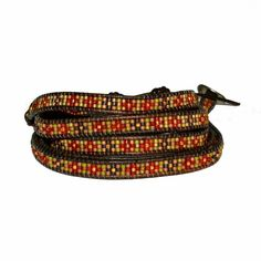 Seed Bead Red Mix Wrap Bracelet by Chan Luu