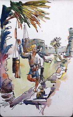 Suhita Shirodkar - Drawing People in Cambodia (Urban Sketchers)
