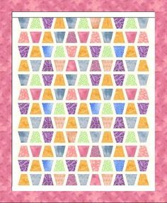 TEMPLATE and PATTERN - Tumbler Quilt Pattern and Template - 4 1/2 Inch and Sashed Tumbler Quilt Pattern. $8.00, via Etsy.