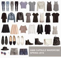 Image result for spring capsule wardrobe